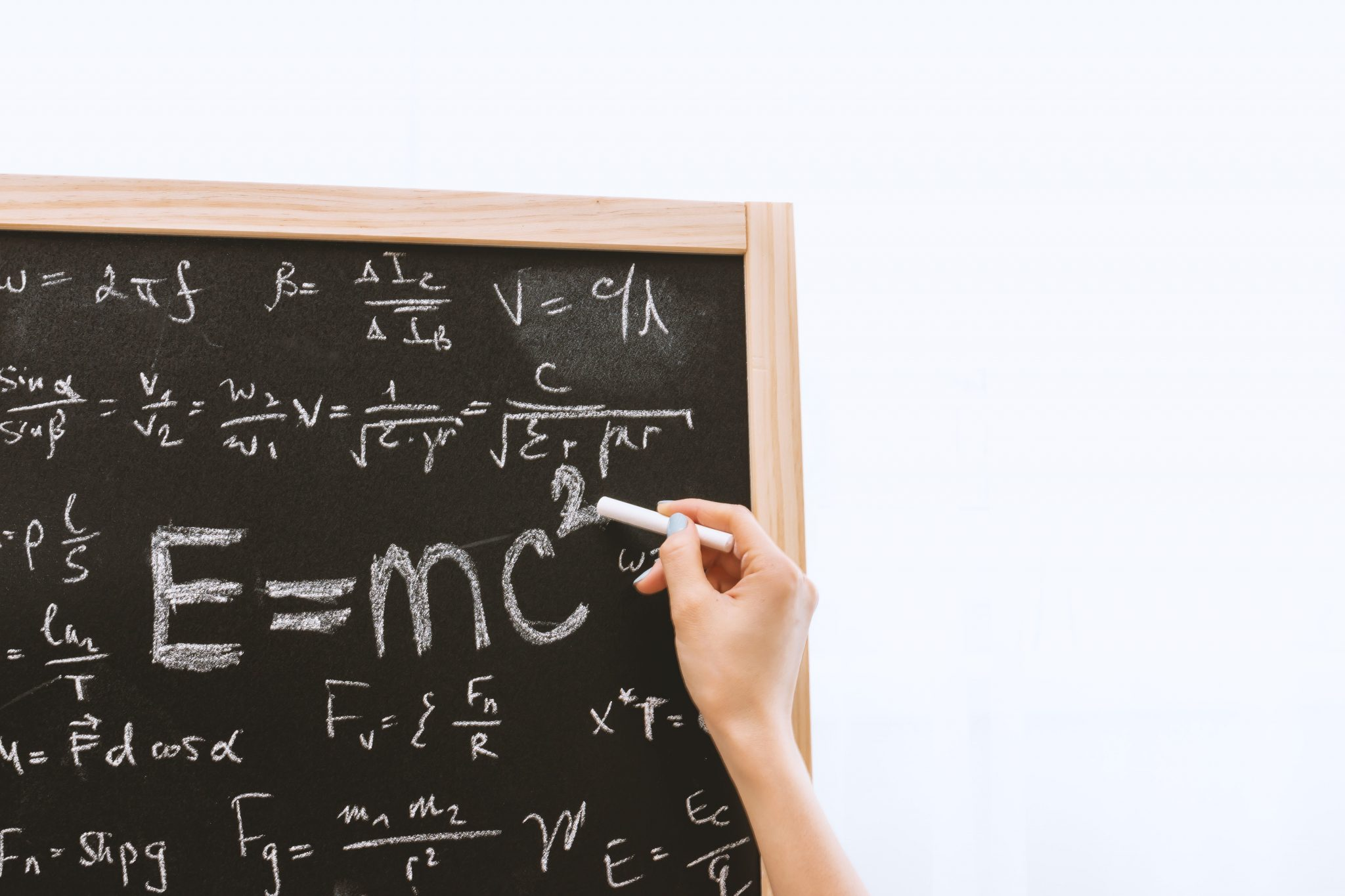 Chalk Board With Equations