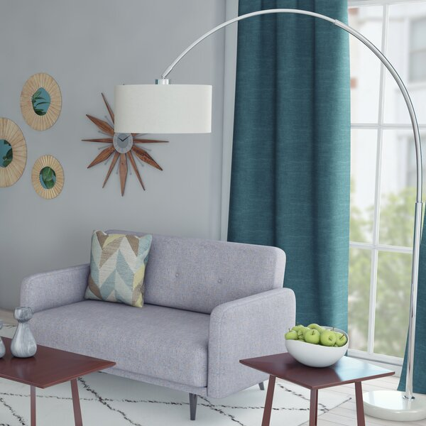 an arched floor lamp