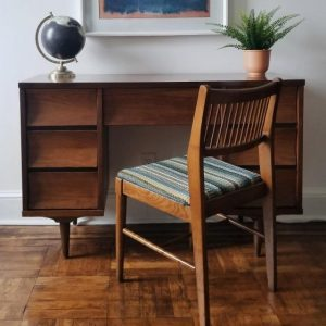 mid-century modern desk and chair