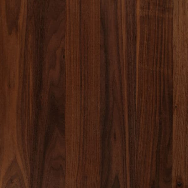 showing the grain of finished american walnut wood