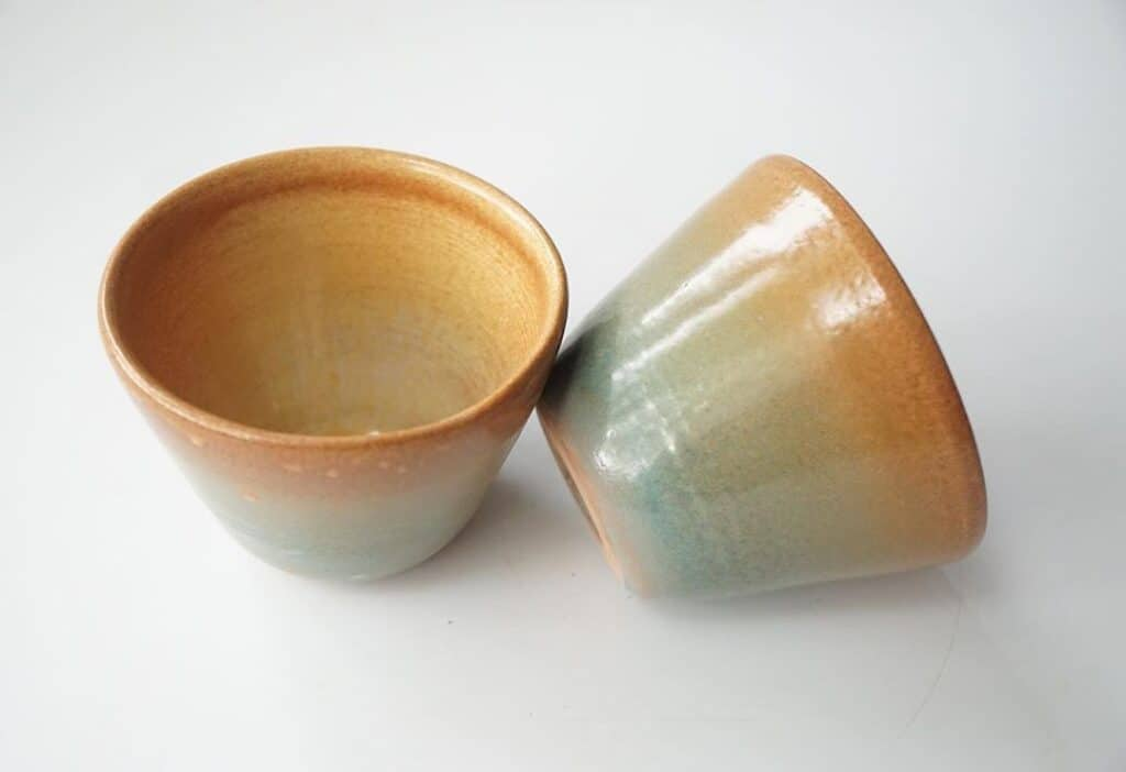 Nature Design Pottery two cups