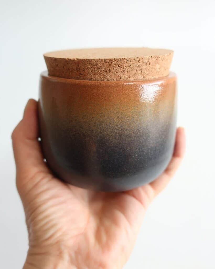 Nature Design Pottery two tone with cork
