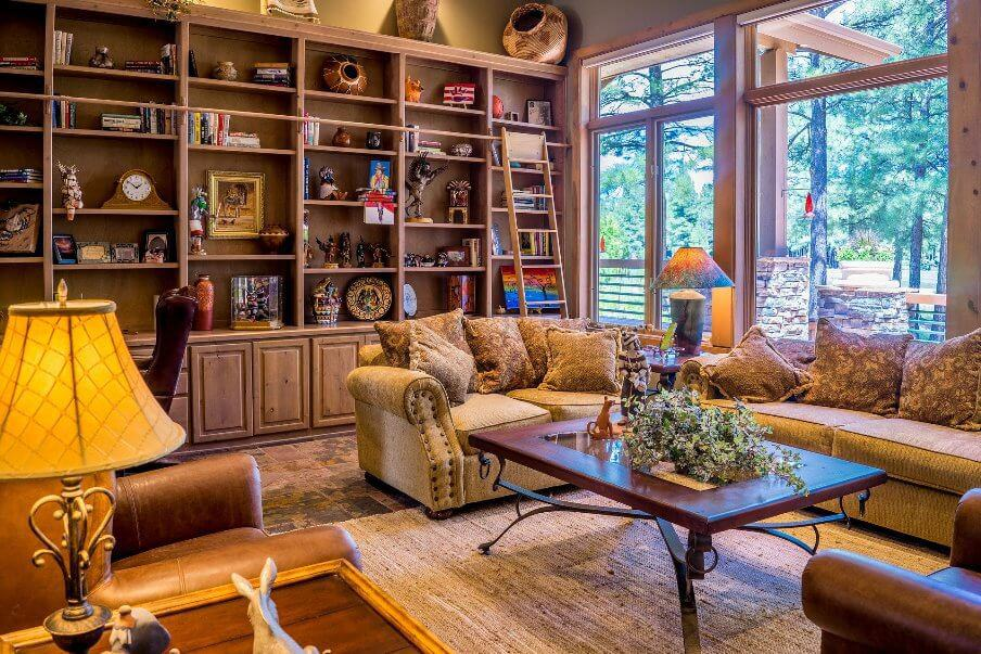 living room setting in an eclectic setting