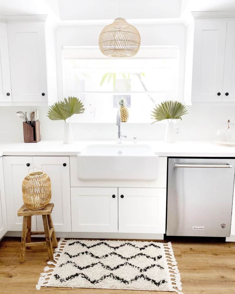 Bright kitchen with rug