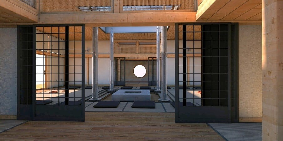 internal view of a japanese home