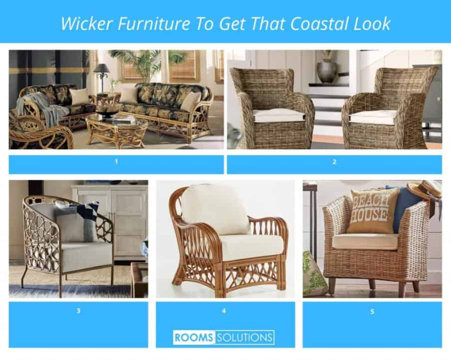 series of images of wicker chairs and how to get the look