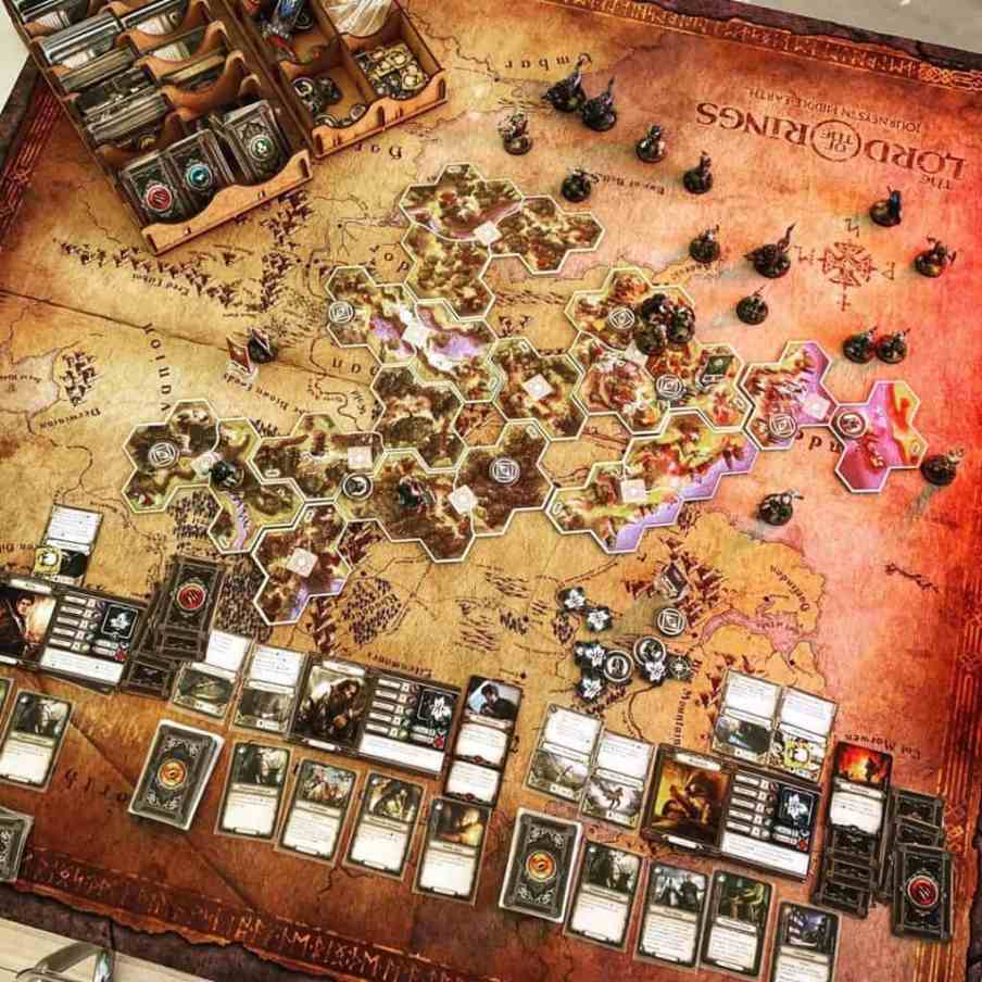 middle earth board game board