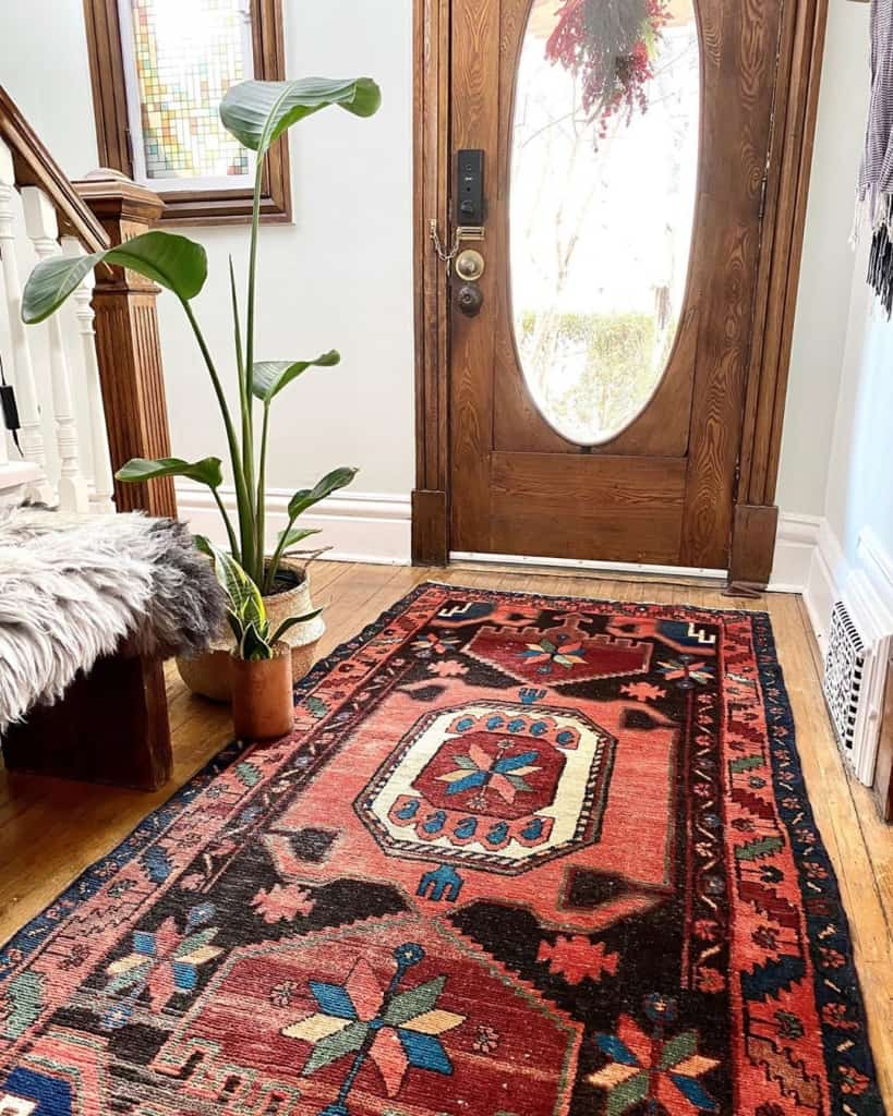 Rug in the entryway