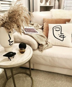 Sofa with blanket