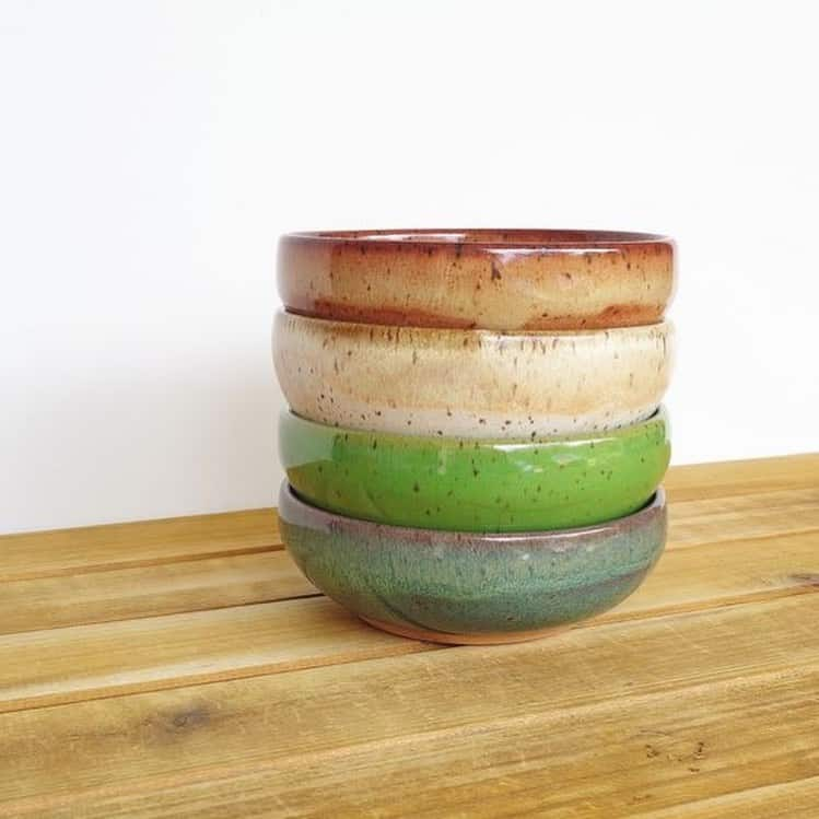 four bowls stacked