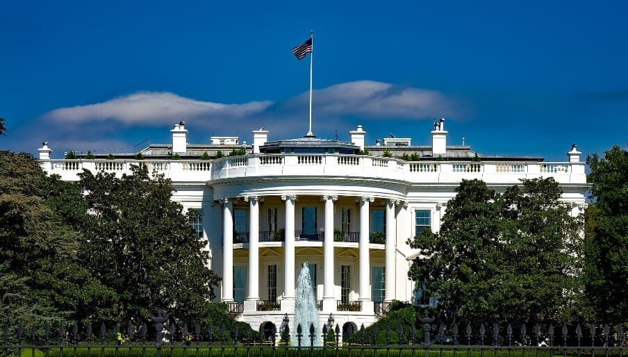 the white house, home of the U.S. President